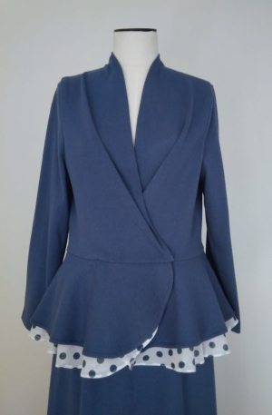 Jersey jacket and skirt on lining