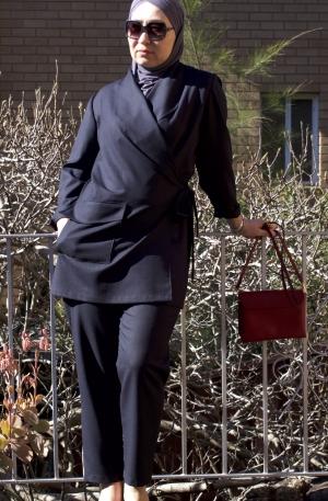 Elegant kimono-style suit